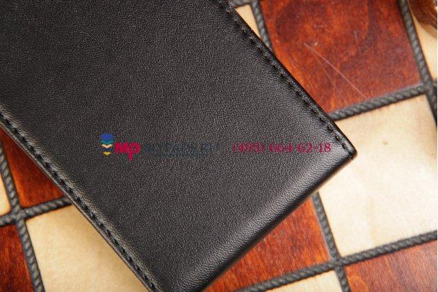 Вертикальный откидной чехол-флип для nokia lumia 925 черный кожаный