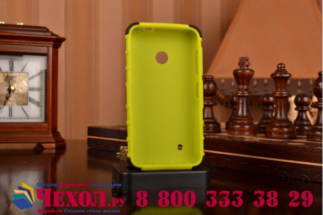 Противоударный усиленный ударопрочный чехол-бампер-пенал для nokia lumia 530 зелёный