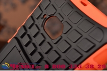 Противоударный усиленный ударопрочный чехол-бампер-пенал для nokia lumia 730 оранжевый
