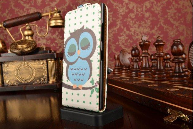 """Вертикальный откидной чехол-флип для nokia lumia 730 dual sim """"тематика сова"""""""