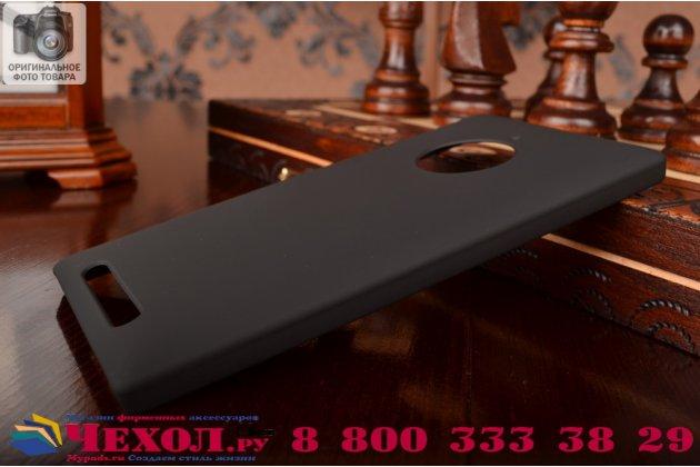 Задняя панель-крышка-накладка из тончайшего и прочного пластика для nokia lumia 830 черная