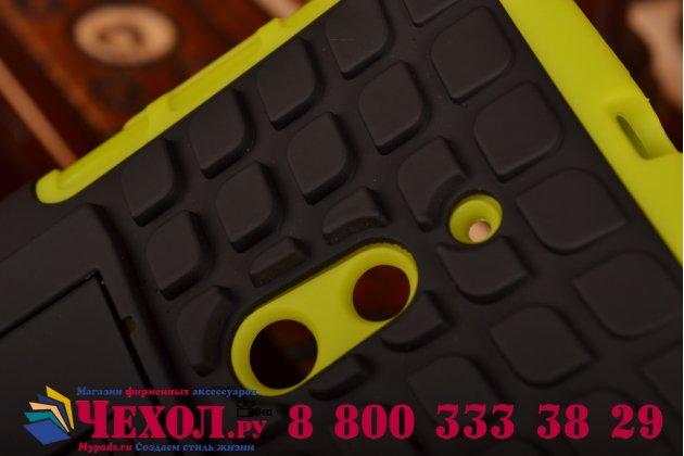 Противоударный усиленный ударопрочный чехол-бампер-пенал для nokia lumia 830 зелёный