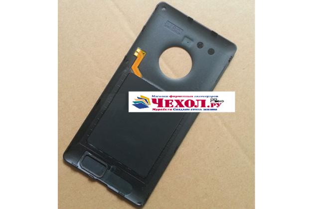 Родная задняя крышка с функцией беспроводной зарядки и логотипом для nokia lumia 830 черная