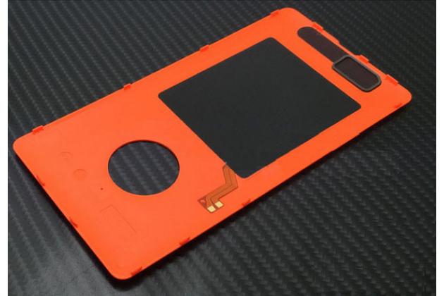 Родная задняя крышка с функцией беспроводной зарядки и логотипом для nokia lumia 830 оранжевая
