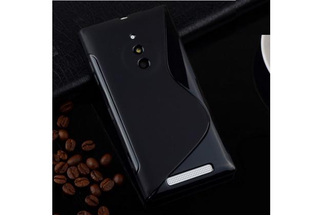 Ультра-тонкая полимерная из мягкого качественного силикона задняя панель-чехол-накладка для nokia lumia 830  черная
