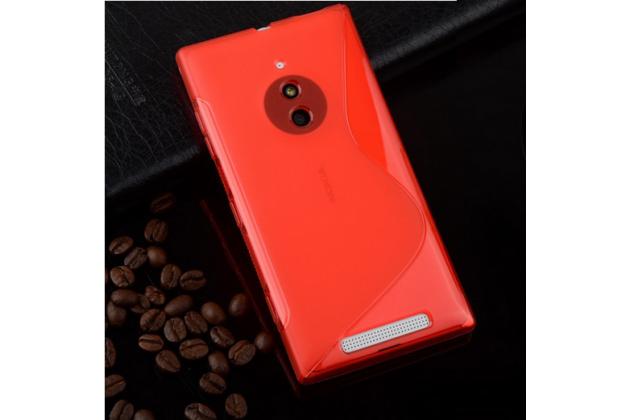 Ультра-тонкая полимерная из мягкого качественного силикона задняя панель-чехол-накладка для nokia lumia 830 красная