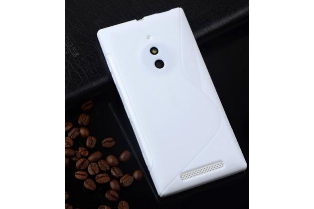 Ультра-тонкая полимерная из мягкого качественного силикона задняя панель-чехол-накладка для nokia lumia 830  белая