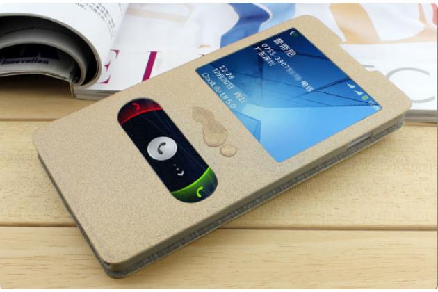 Чехол-книжка для nokia lumia 830 золотой с окошком для входящих вызовов и свайпом водоотталкивающий
