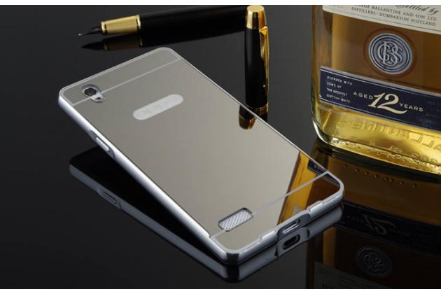 """Металлическая задняя панель-крышка-накладка из тончайшего облегченного авиационного алюминия для oppo mirror 5s"""" серебряная"""