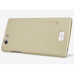 """Задняя панель-крышка-накладка из тончайшего и прочного пластика для oppo neo 5 / 5s"""" золотая"""