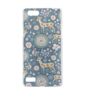 Пластиковая задняя панель-чехол-накладка с безумно красивым расписным рисунком оленя в цветах для oppo neo 7