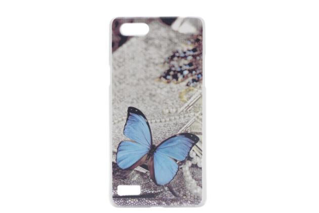 """Роскошная задняя панель-чехол-накладка с безумно красивым рисунком для oppo neo 7"""" """"тематика бабочка"""""""