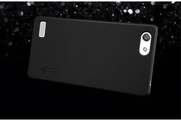 """Задняя панель-крышка-накладка из тончайшего и прочного пластика для oppo neo 7"""" черная"""