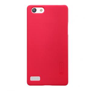 """Задняя панель-крышка-накладка из тончайшего и прочного пластика для oppo neo 7"""" красная"""