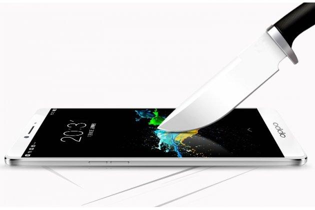3d защитное изогнутое стекло которое полностью закрывает экран / дисплей по краям с олеофобным покрытием для oppo r7 plus белое