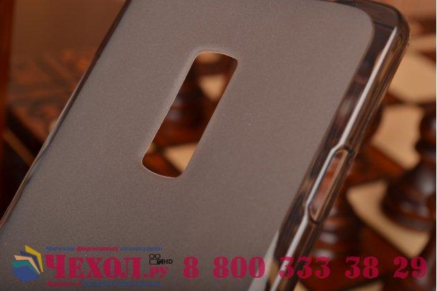Ультра-тонкая полимерная из мягкого качественного силикона задняя панель-чехол-накладка для oneplus 2 (two) a2001  черная