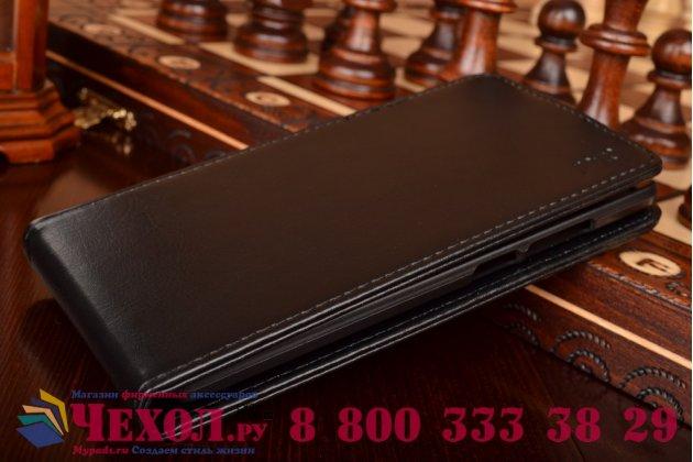 Вертикальный откидной чехол-флип для oneplus 2 (two) a2001 черный кожаный
