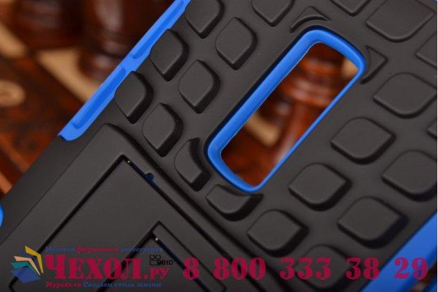 Противоударный усиленный ударопрочный чехол-бампер-пенал для  oneplus 2 (two) a2001 синий