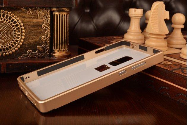 Металлическая задняя панель-крышка-накладка из тончайшего облегченного авиационного алюминия для oneplus 2 (two) a2001 золотая