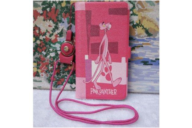 """Уникальный необычный чехол-книжка для oneplus 2 (two) a2001 """"тематика розовая пантера"""""""