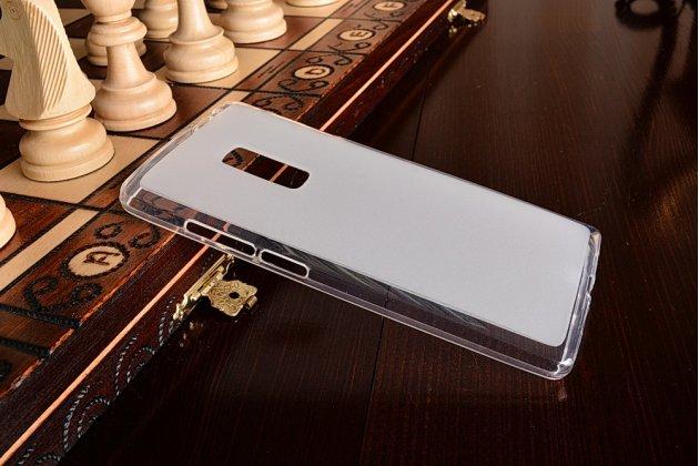 Ультра-тонкая полимерная из мягкого качественного силикона задняя панель-чехол-накладка для oneplus 2 (two) a2001 белая