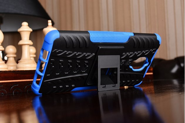 Противоударный усиленный ударопрочный чехол-бампер-пенал для oneplus 3t синий