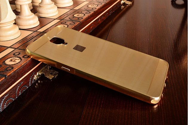 Металлическая задняя панель-крышка-накладка из тончайшего облегченного авиационного алюминия для oneplus 3t золотая