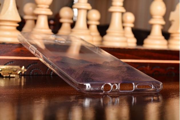 """Задняя панель-крышка-накладка из тончайшего силикона для oneplus 3t с объёмным 3d рисунком """"тематика горы"""""""