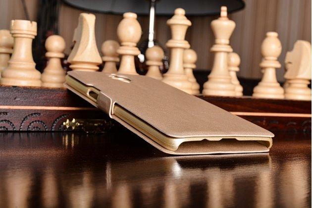 Чехол-книжка для oneplus 3t золотой с окошком для входящих вызовов и свайпом водоотталкивающий