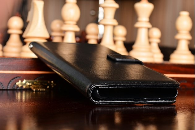 Чехол-книжка из качественной импортной кожи с подставкой застёжкой и визитницей для oneplus 3 черный