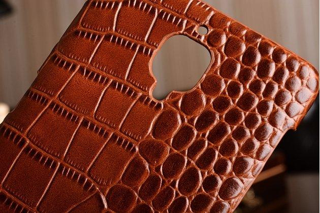 """Роскошная эксклюзивная накладка с объёмным 3d изображением рельефа кожи крокодила коричневая для oneplus 3t a3010/ oneplus 3 a3000 / a3003"""" . только в нашем магазине. количество ограничено"""