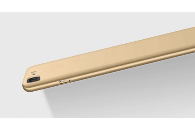 Задняя панель-крышка-накладка из тончайшего и прочного пластика для oneplus 3t a3010/ oneplus 3 a3000 / a3003 золотая