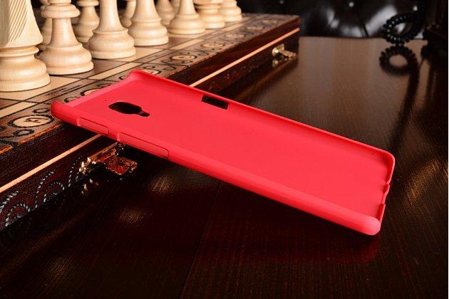 Задняя панель-крышка-накладка из тончайшего и прочного пластика для oneplus 3t красная