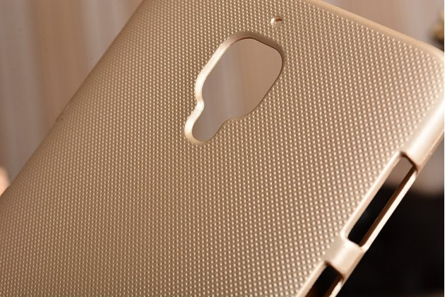 Задняя панель-крышка-накладка из тончайшего и прочного пластика для oneplus 3t золотая