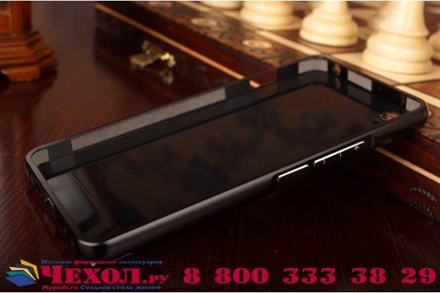 """Металлическая задняя панель-крышка-накладка из тончайшего облегченного авиационного алюминия для oneplus x / one + x/ e1001 5.0""""  черная"""