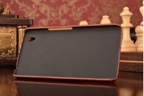 """Роскошная элитная премиальная задняя панель-крышка для oneplus x / one + x/ e1001 5.0"""" из качественной кожи буйвола с визитницей коричневая"""