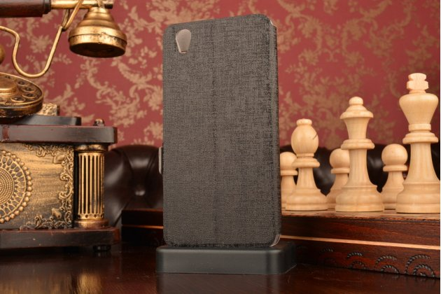 """Чехол-книжка для oneplus x / one + x/ e1001 5.0""""  черный с окошком для входящих вызовов и свайпом водоотталкивающий"""