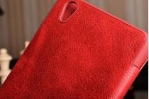 """Премиальный элитный чехол-книжка из качественной импортной кожи с мульти-подставкой и визитницей для oneplus x / one + x/ e1001 5.0"""" """"ретро"""" красный"""