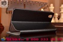 """Чехол-книжка из качественной водоотталкивающей импортной кожи на жёсткой металлической основе для  oneplus x / one + x/ e1001 5.0"""" черный"""