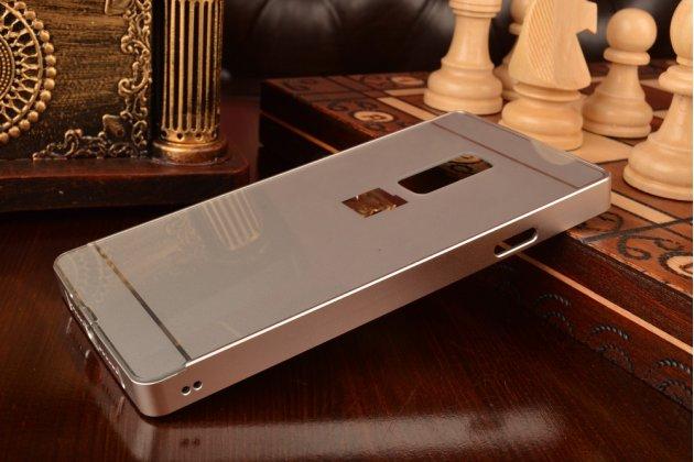 Металлическая задняя панель-крышка-накладка из тончайшего облегченного авиационного алюминия для oneplus 2 (two) a2001 серебристая