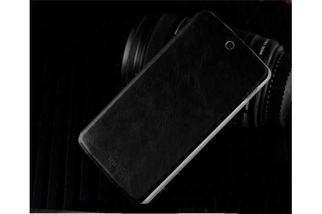Чехол-книжка из качественной водоотталкивающей импортной кожи на жёсткой металлической основе для lg nexus 5 d821 черный