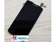 Фирменный LCD-ЖК-сенсорный дисплей-экран-стекло с тачскрином на телефон Philips Xenium V387 черный + гарантия..