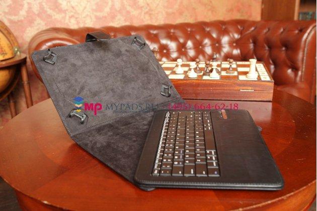 Чехол со съёмной bluetooth-клавиатурой для sony xperia tablet z черный кожаный 10,1 + гарантия