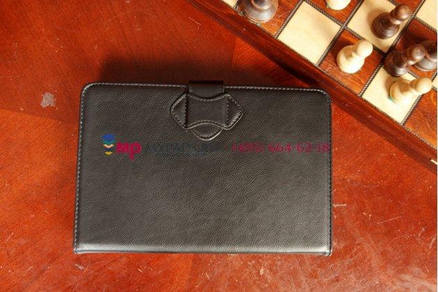 Чехол со съёмной bluetooth-клавиатурой для планшетов с диагональю 7,85/ 8.0 дюймов черный кожаный + гарантия