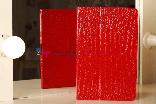 Чехол-обложка для samsung ativ smart pc xe500t1c лаковая кожа крокодила алый огненный красный
