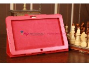 Фирменный чехол-сумка для Samsung Ativ Smart PC XE500T1C красный кожаный..