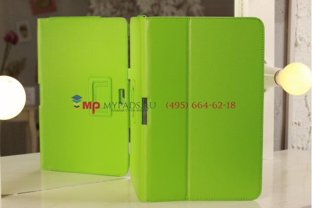 Чехол-футляр для samsung ativ smart pc xe500t1c зеленый кожаный