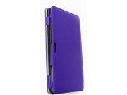Фирменный чехол для Samsung ATIV Smart PC XE500T1C фиолетовый с секцией под клавиатуру натуральная кожа