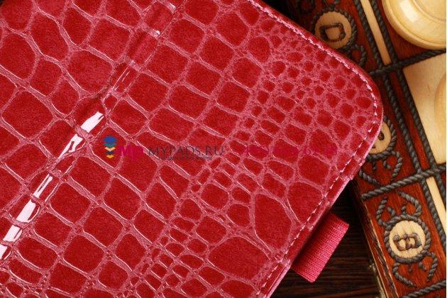Лаковая блестящая кожа под крокодила чехол-обложка для samsung galaxy note 8.0 n5100/n5110 цвет фуксии