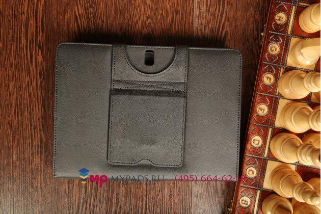 Чехол со съёмной bluetooth-клавиатурой для samsung galaxy tab pro 10.1 sm-t520/t525 черный кожаный + гарантия